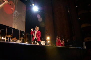 Rod Stewart performs at the Baron Funds 2009 shareholder meeting at the Lincoln Center, New York, NY.